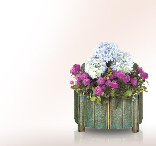 blumenschale f r das grab aus bronze online kaufen und. Black Bedroom Furniture Sets. Home Design Ideas