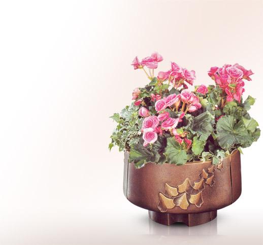 blument pfe f r ein grab aus bronze online kaufen und. Black Bedroom Furniture Sets. Home Design Ideas