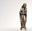 Madonna Mutter Gottes: Heilige Mutter Gottes aus Bronze
