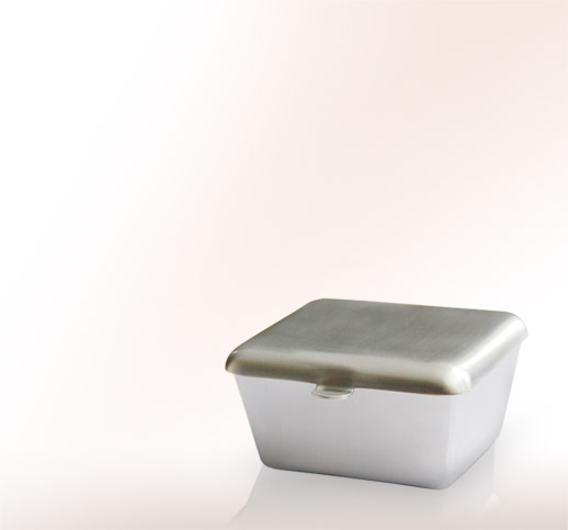 moderne weihwasserschalen aus edelstahl f r ein grab. Black Bedroom Furniture Sets. Home Design Ideas